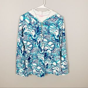 Lilly Pulitzer Patterned Blue Jacket